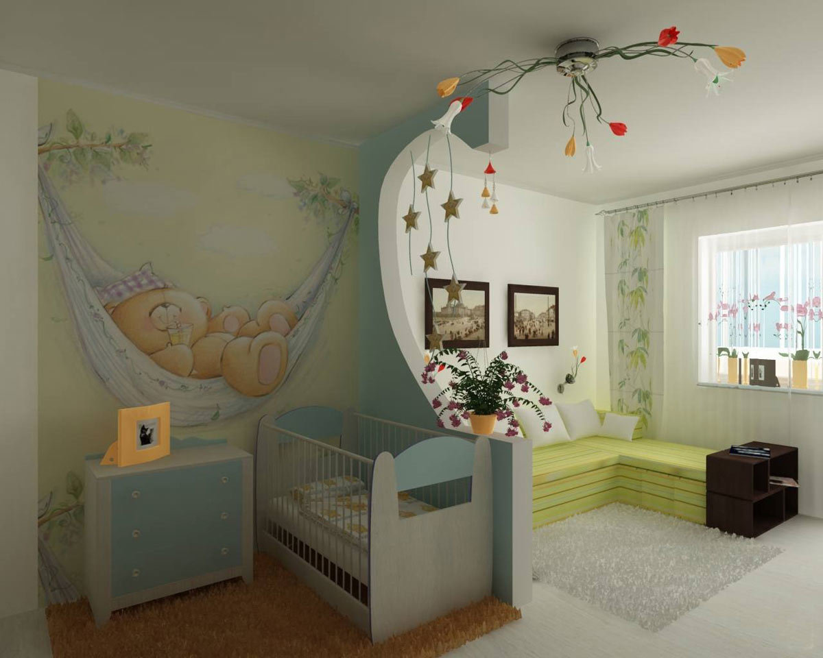 Как в одной комнате сделать две зоны: спальню 38