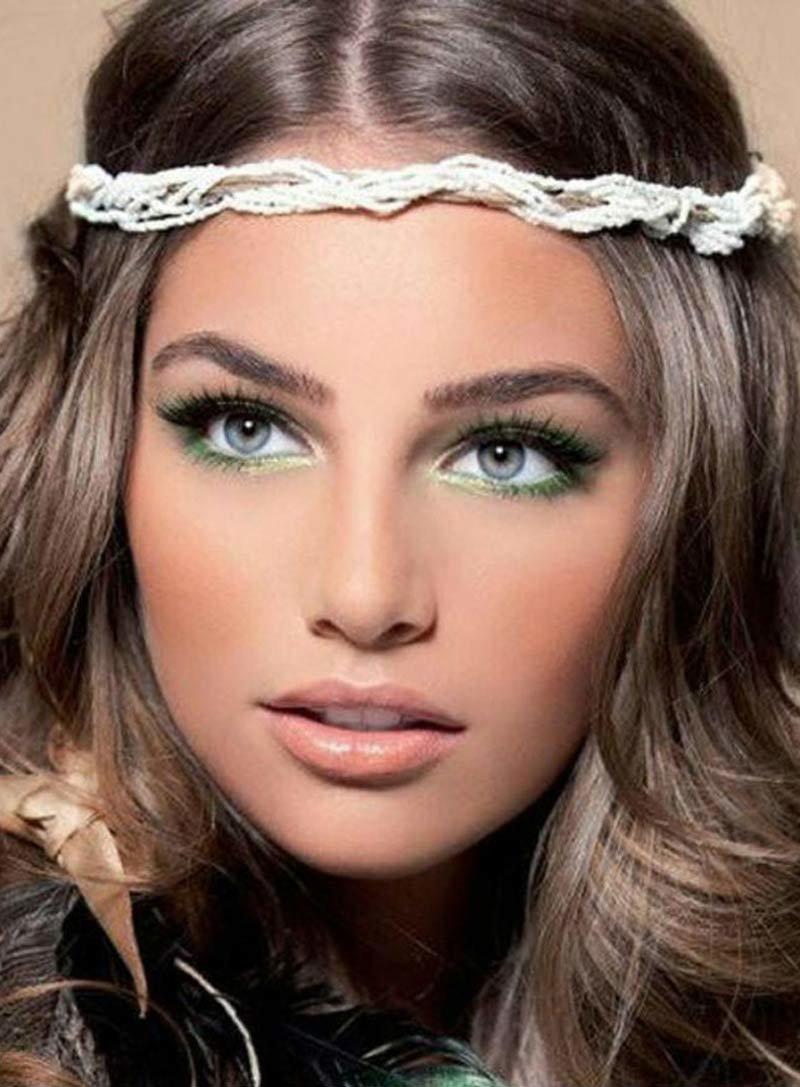 Макияж для светлых зеленых глаз и светлых волос пошагово