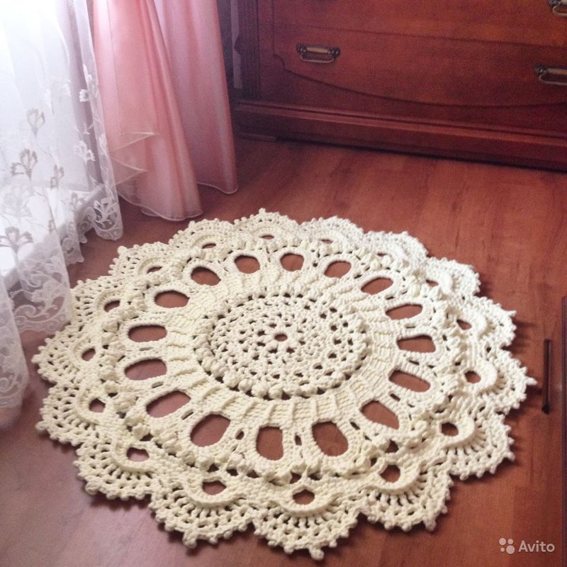 Ленточная пряжа для вязания ковриков крючком