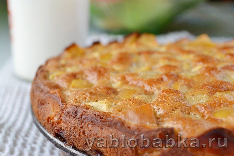 Вкусная шарлотка со сметаной с яблоками рецепт с фото пошагово в духовке