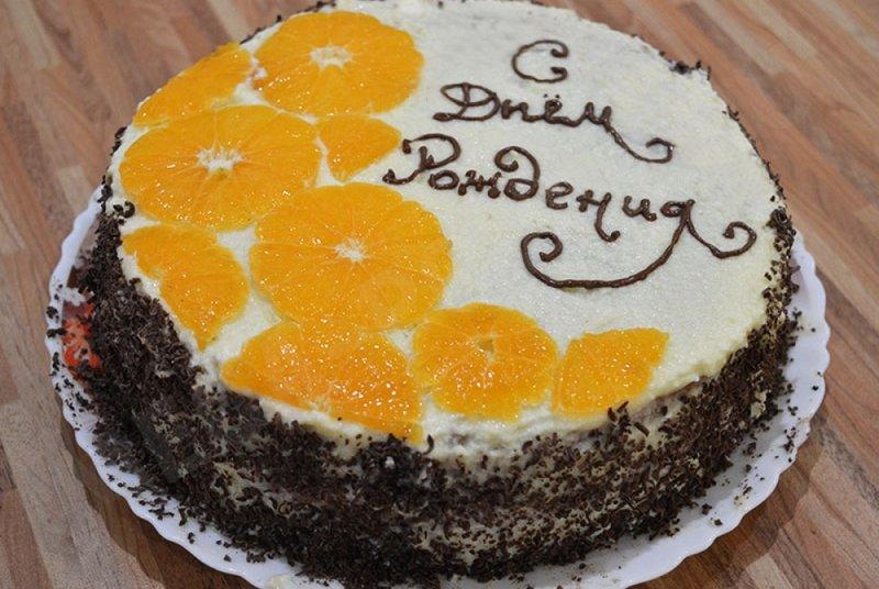 Торт на день рождения в домашних условиях простой рецепт