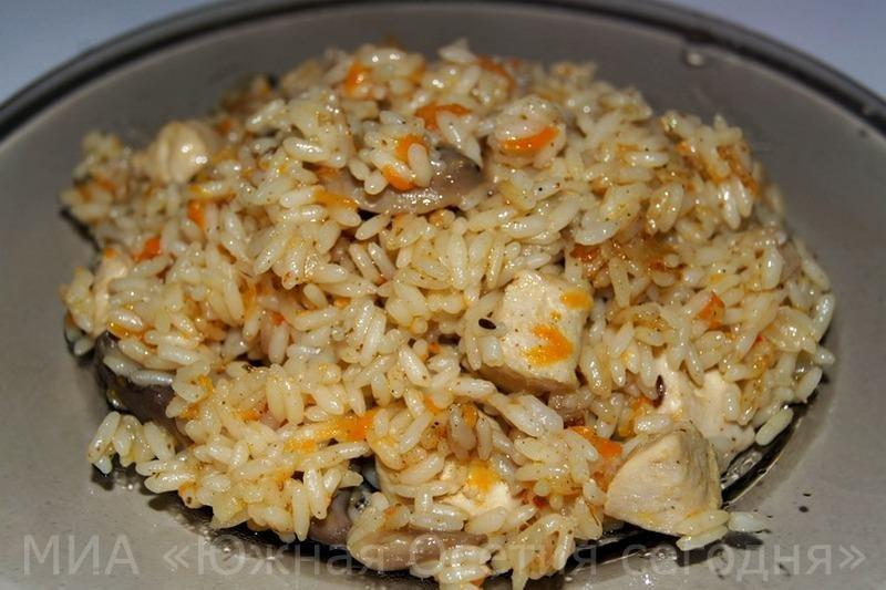 Рис с курицей рецепт с фото