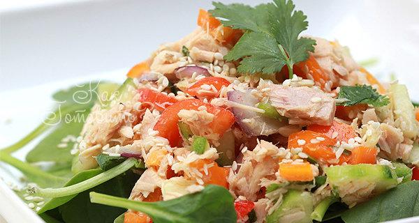 Как готовить салат с тунца