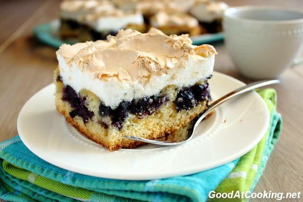 Пирог с черникой замороженной