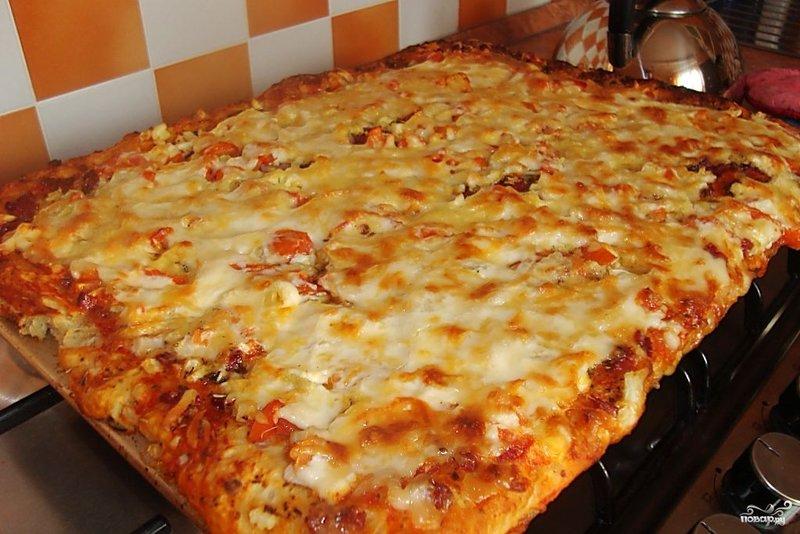 Пошаговый быстрой пиццы