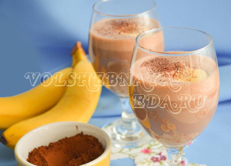 Молочный коктейль в блендере с мороженым и бананом рецепт с пошагово