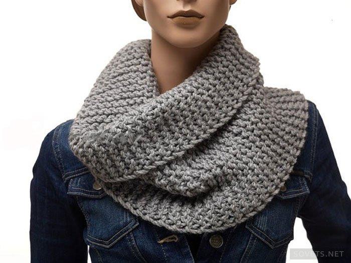 Как связать самый простой шарф-хомут