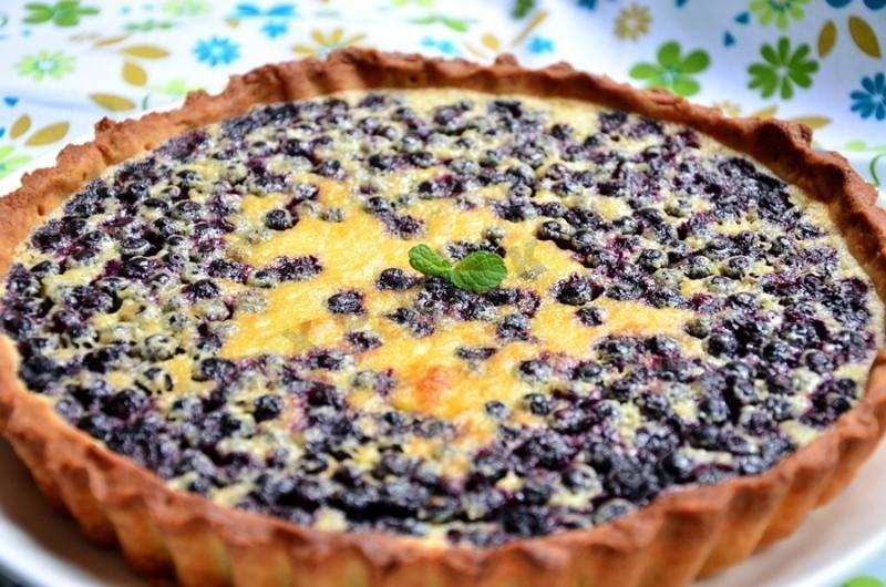 Песочный пирог черничный рецепт