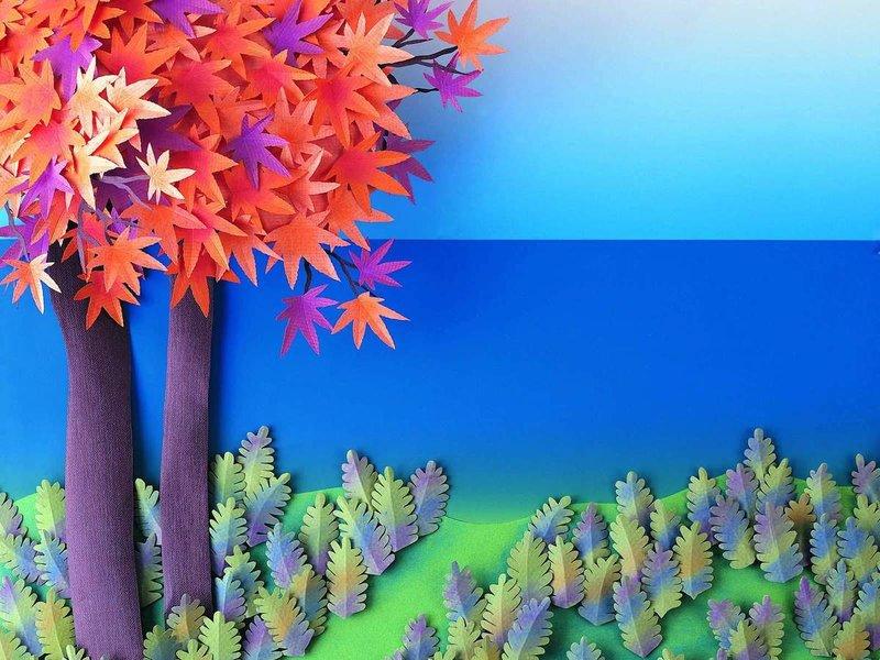 Поделки на тему природа из цветной бумаги