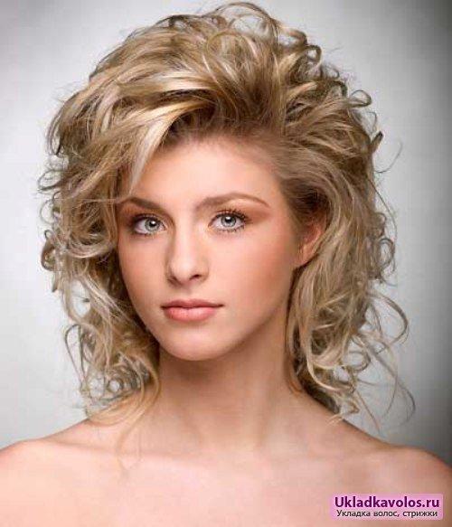 Укладка прическа на средние волосы