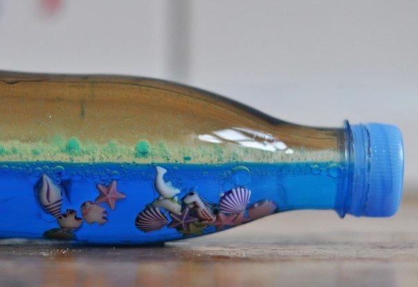 Поделки своими руками море в бутылке