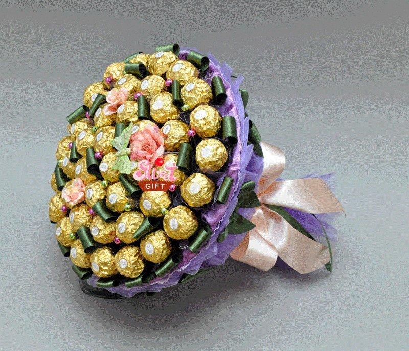 Букет из конфет своими руками в подарок на свадьбу