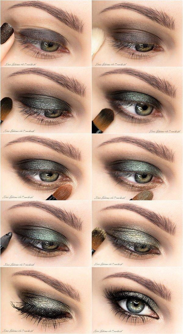 Фото макияжа глаз с тяжелым веком