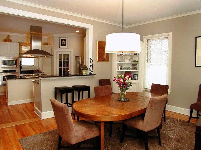 Интерьер гостиной столовой кухни фото