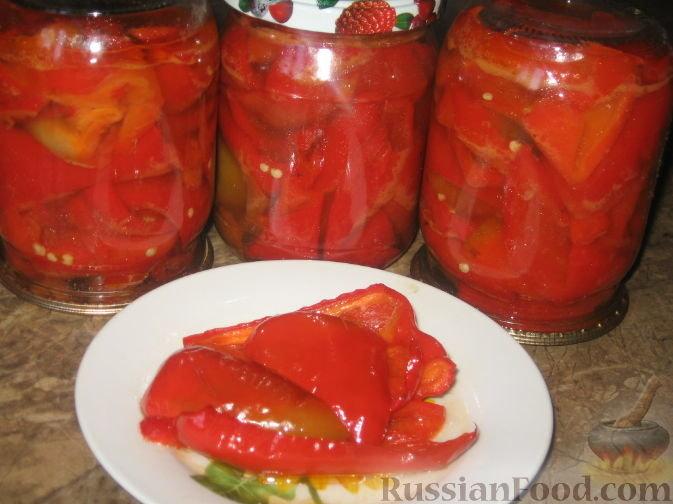Перец в масле на зиму простой рецепт с чесноком фото рецепт пошаговый