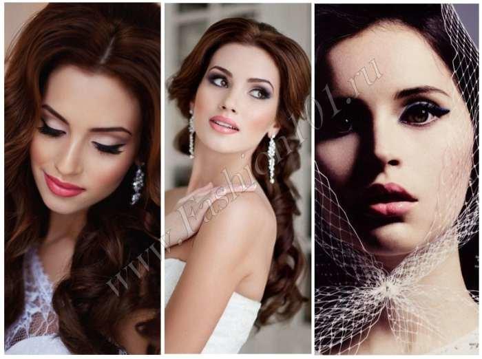 Свадебный макияж для карих глаз пошагово
