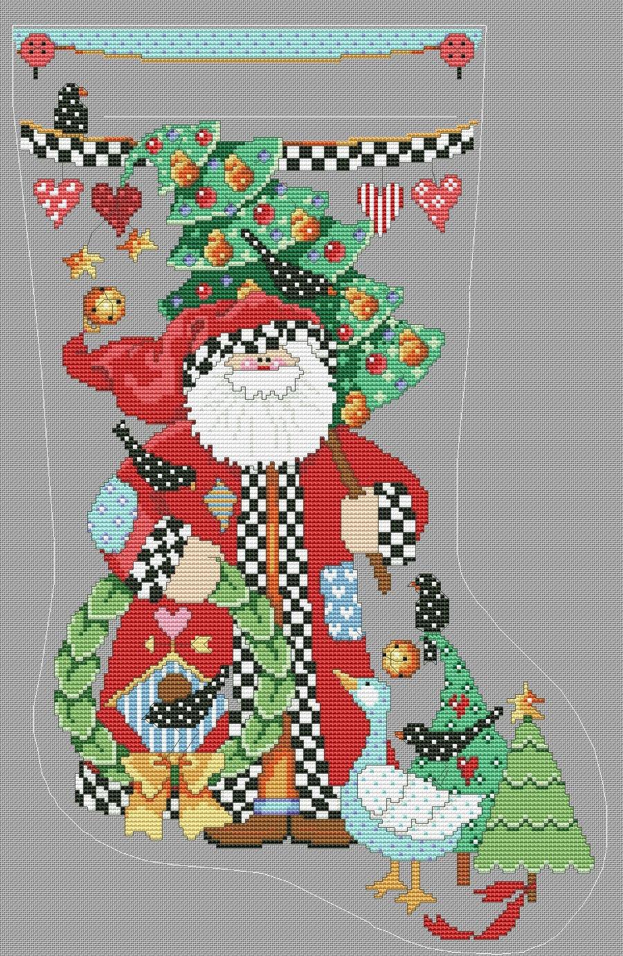 «схема вышивки деда Мороза» карточка пользователя k 99