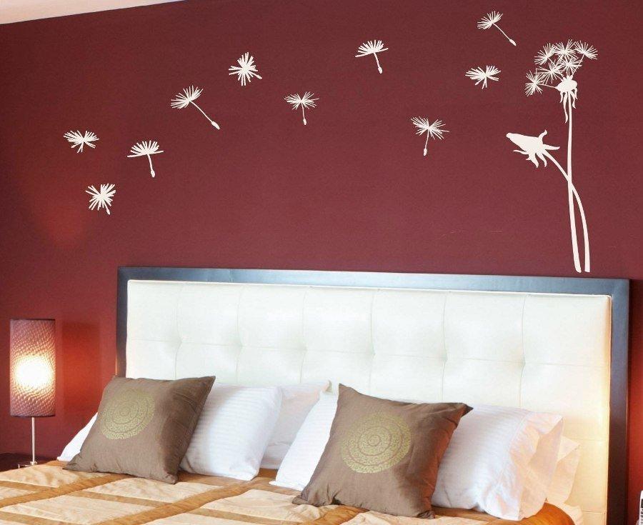 Как украсить стену в спальне своими руками фото 45