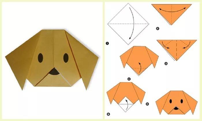 Поделка из оригами животные