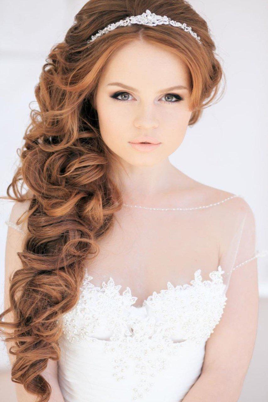 Пышные свадебные прически на длинные волосы фото