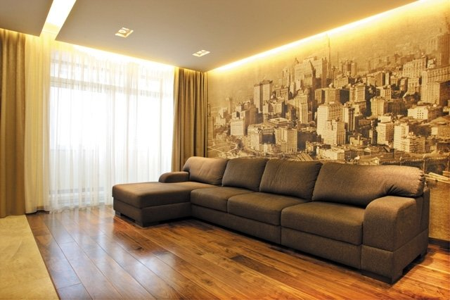 Дизайн обоев для зала город