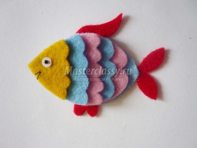 Поделка рыбка своими руками из ткани 481