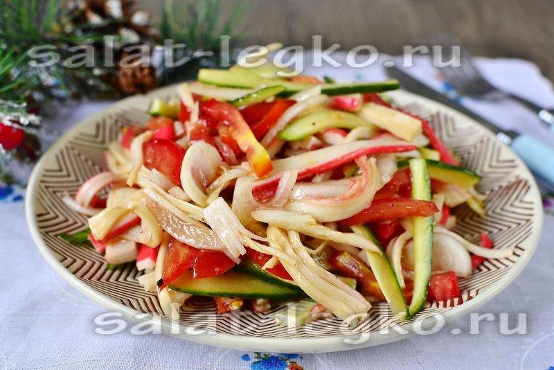 Легкие салаты рецепты с простые и вкусные с крабовыми палочками и