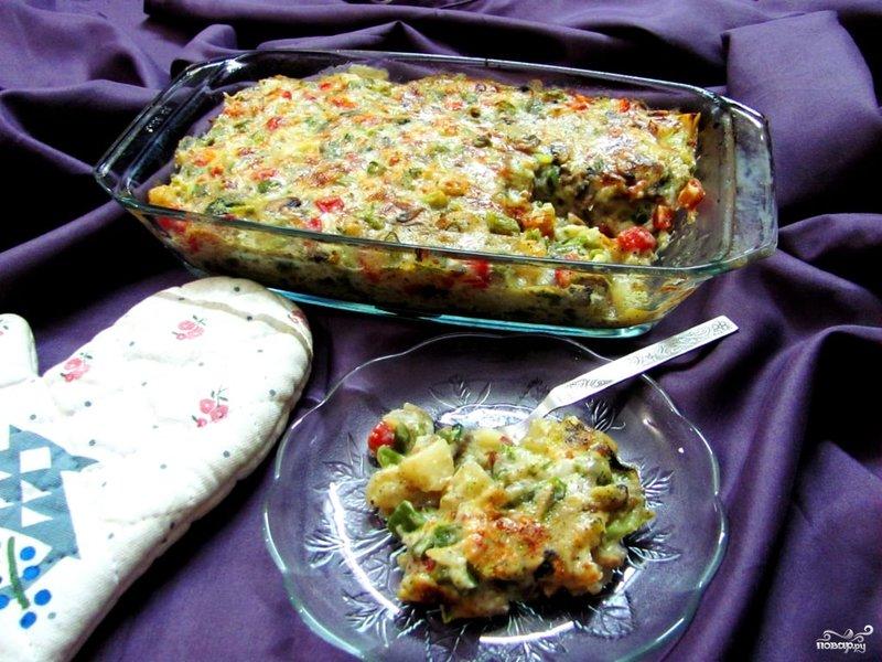 Овощи в духовке под сыром рецепт с пошагово