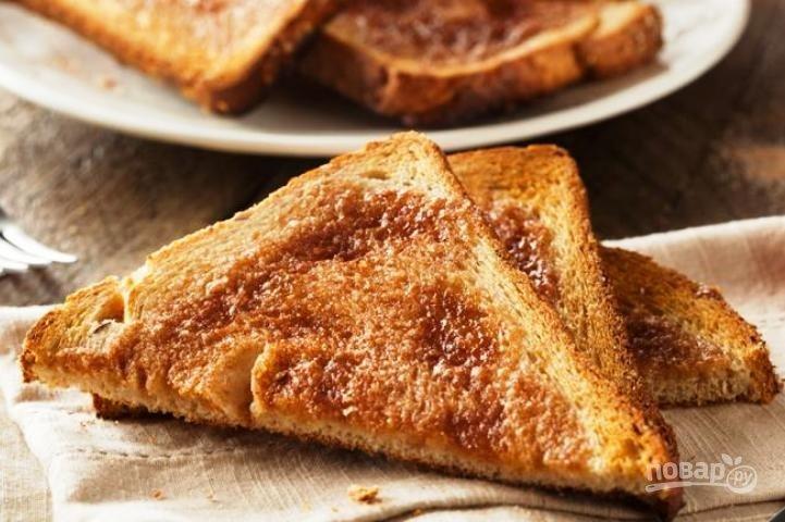 Как сделать гренки сладкие из белого хлеба