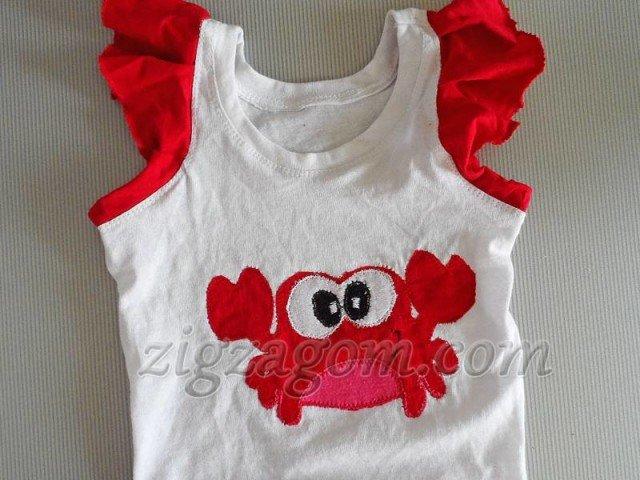 Как из детской майки сшить платье