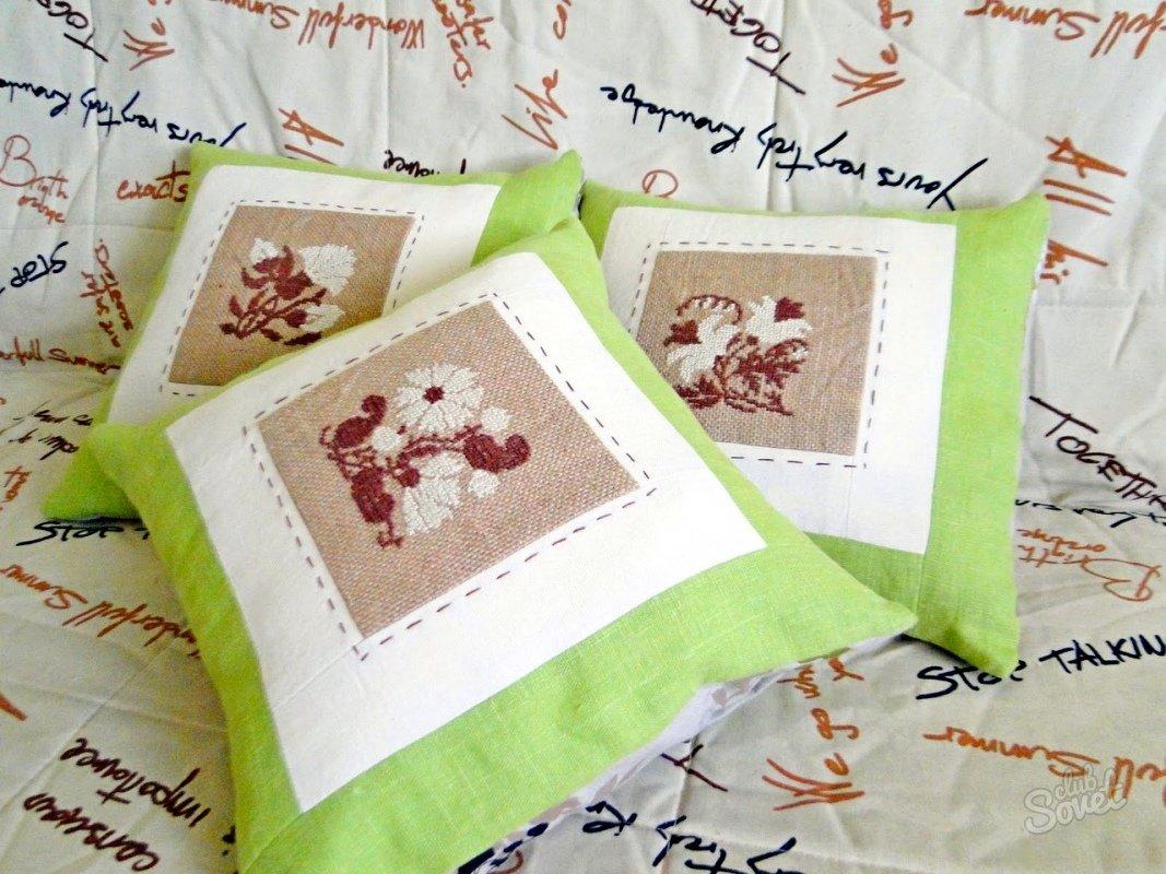 Как сшить подушку с кантом своими руками