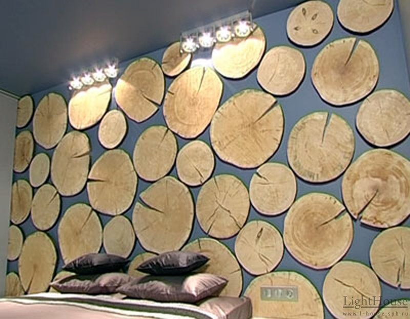 Декор спила дерева своими руками