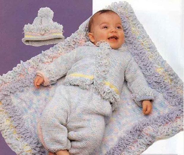 Вязание для детей от 0 до 1 года комбинезоны 227