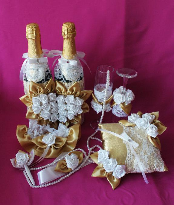 Свадебный набор своими руками из канзаши 54