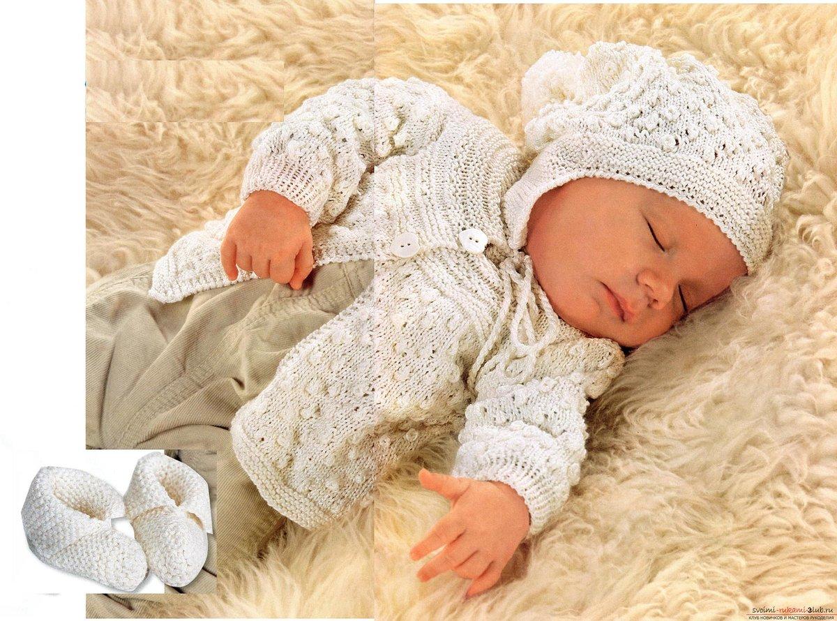Простейшее вязание новорожденным 58