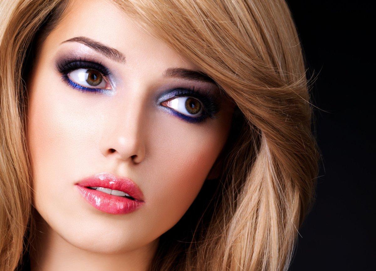 Фото макияж для карих глаз и блондинок