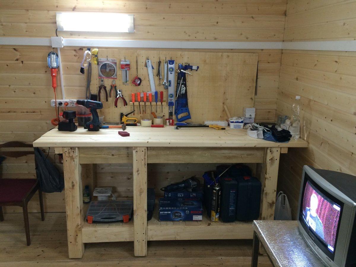 Верстак в гараже своими руками: как сделать Строй 74