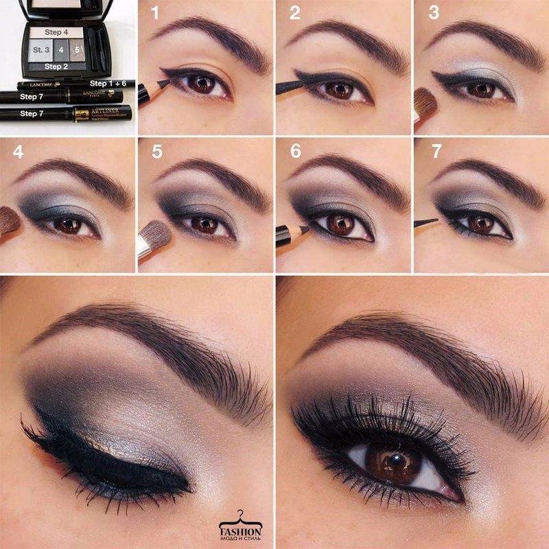 Красивый макияж глаз для брюнеток пошаговое
