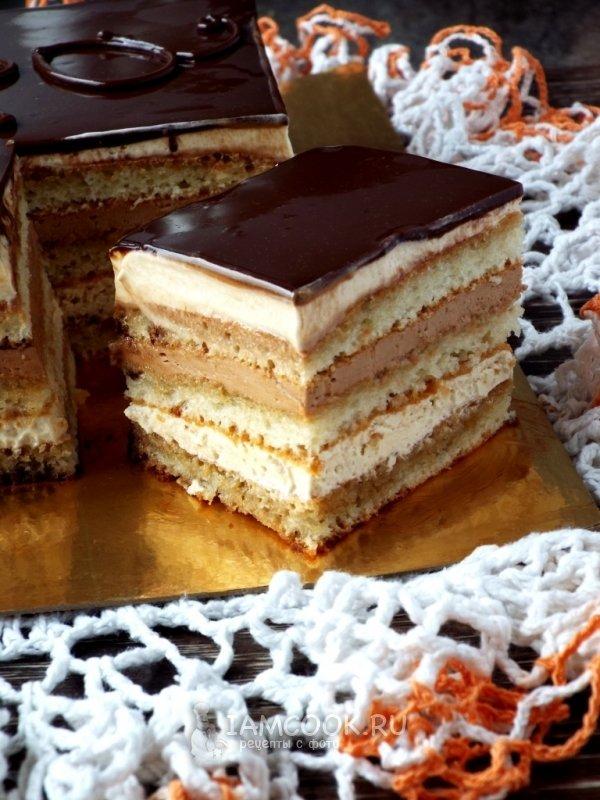 Торт опера рецепт пошаговый с фото