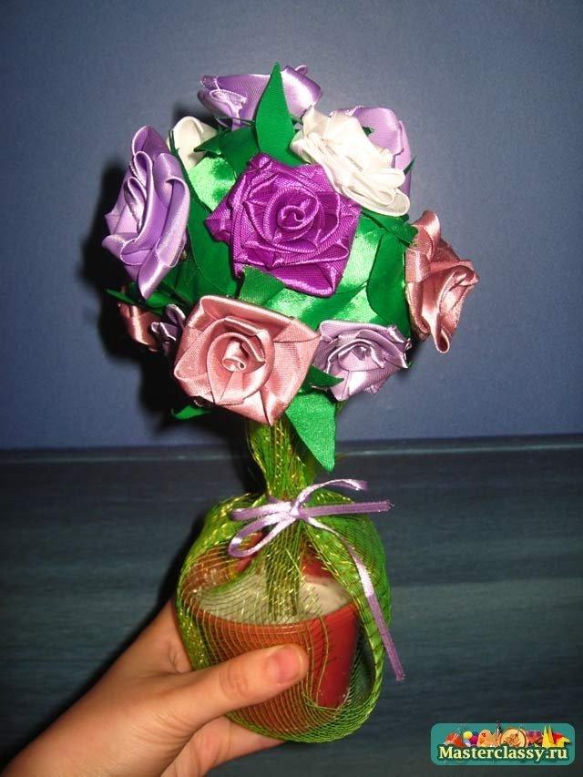 Поделки из цветы лент своими руками