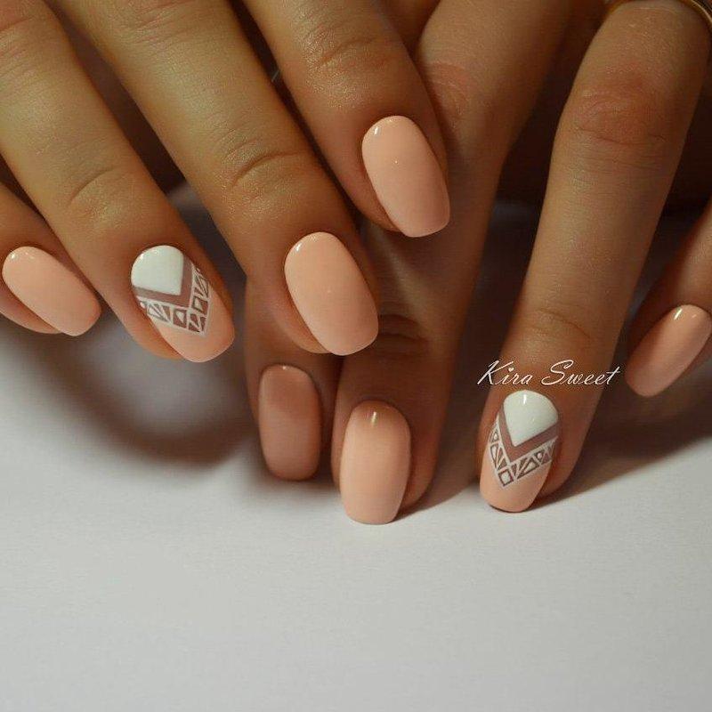 Дизайн ногтей нежные