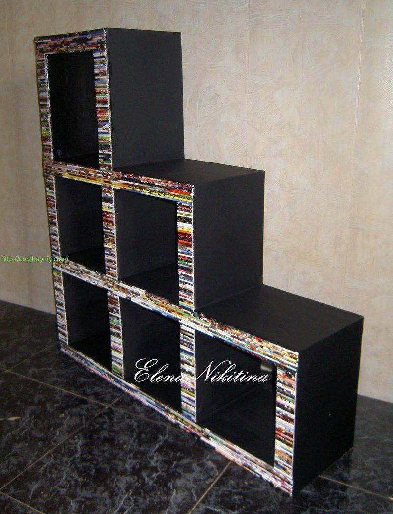 Полка из картона для книг своими руками