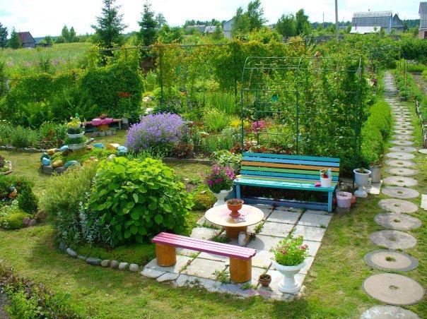 Фото красивых садов своими руками фото