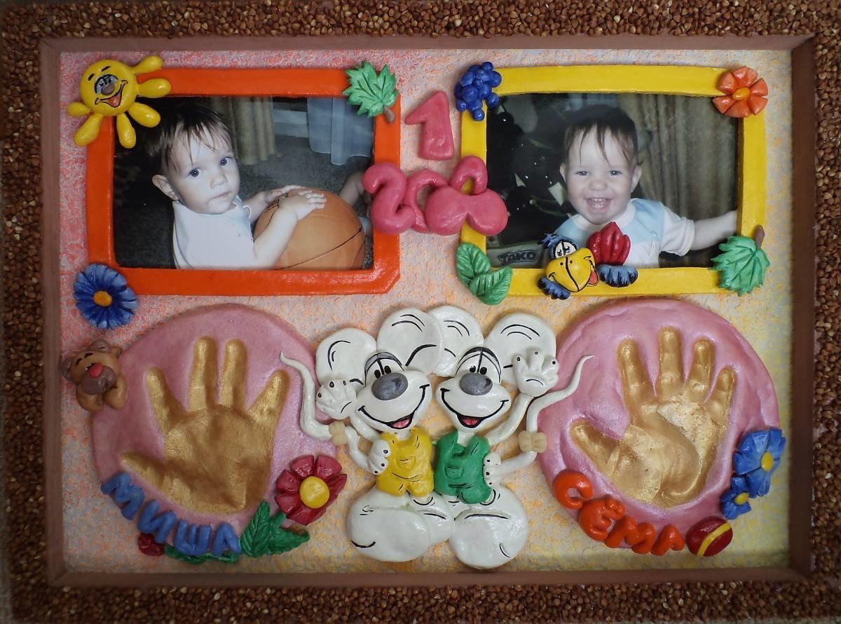 Сделать фоторамку своими руками к годику ребенка