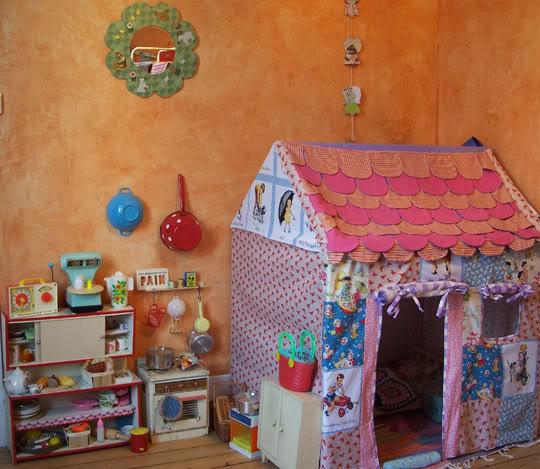 Легкий домик для детей своими руками