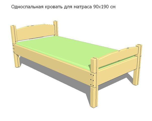 Кровать односпальная сделать
