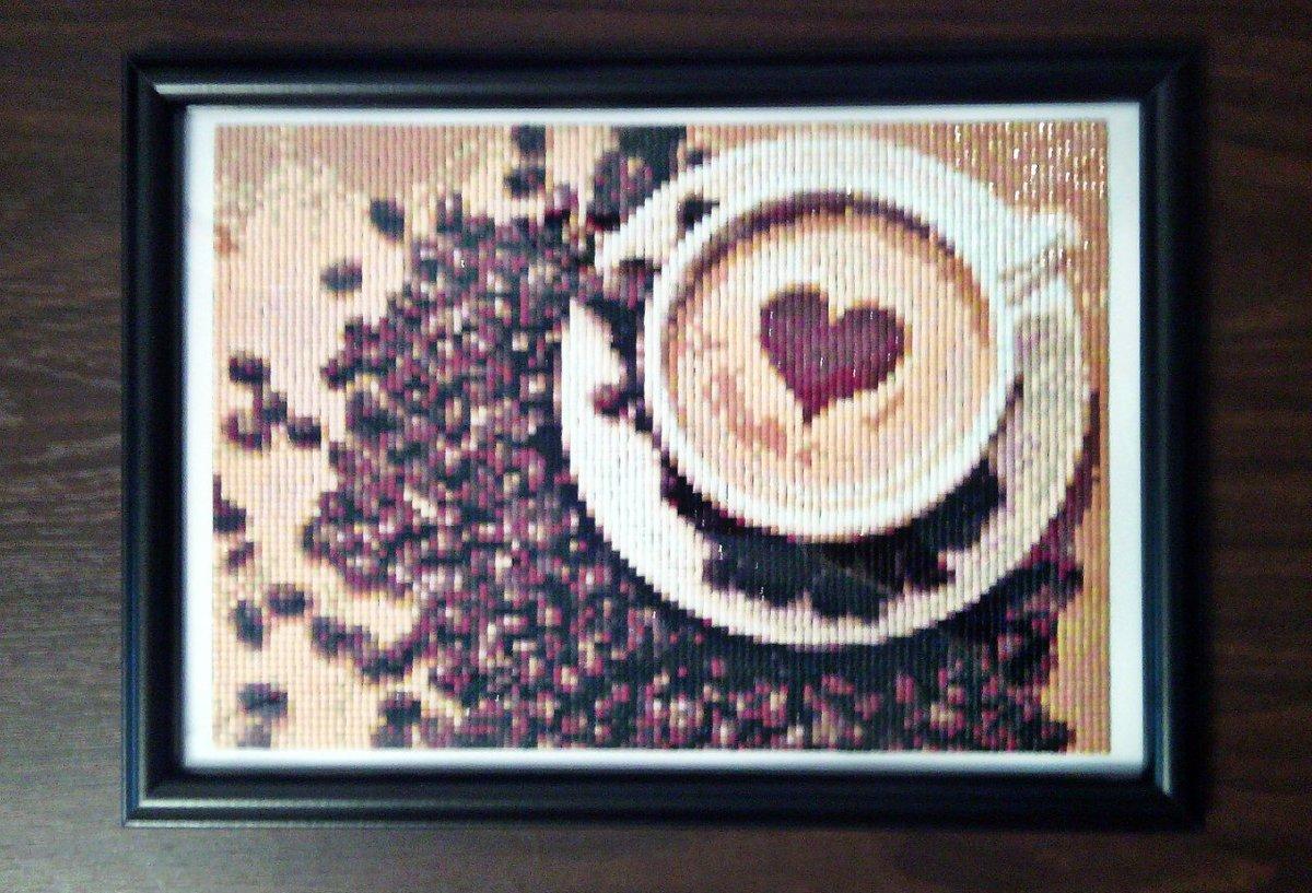 Алмазная вышивка кофейная тема 8