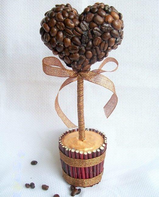 Как сделать дерево из кофейных зёрен 824