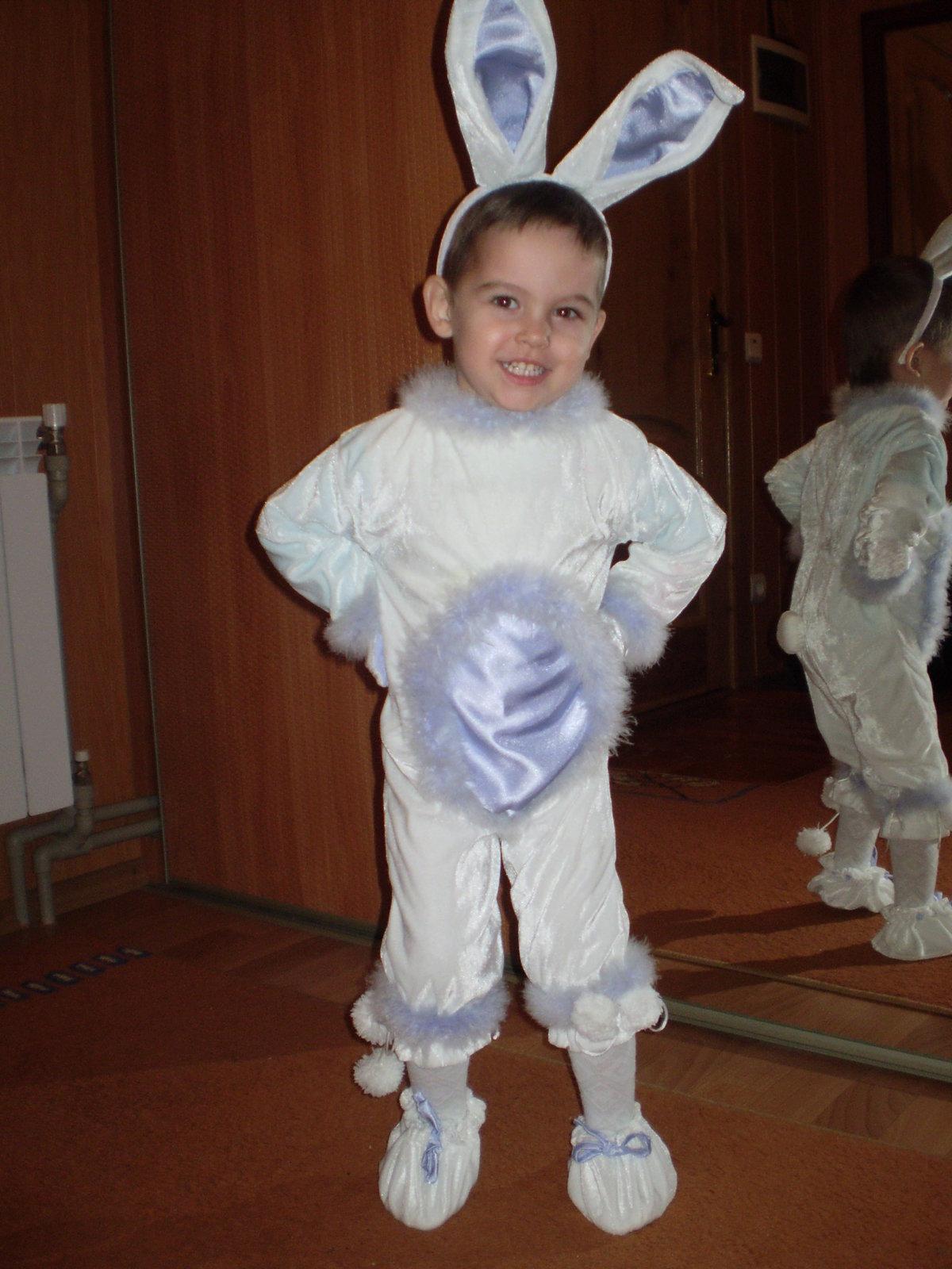 Новогодний костюм зайчика своими руками фото