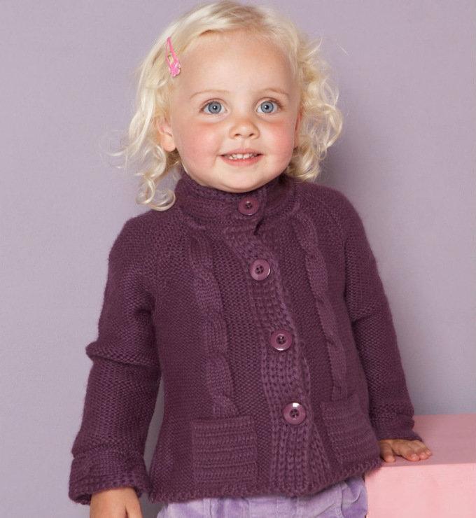 Вязания кофта для девочки